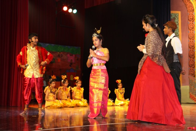 Elaborate costumes lent a touch of authenticity in the students' interpretation of The King & I.