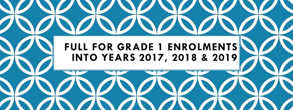 Full for Grade 1 Enrolments into Years 2017